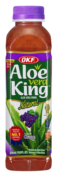 NATURAL GRAPE FLV. ALOE VERA DRINK 500ML ALOE VERA KING