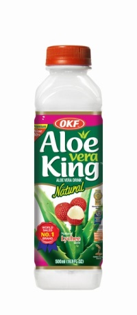 LYCHEE ALOE VERA DRINK 500ml ALOE VERA KING