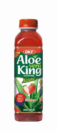 STRAWBERRY ALOE VERA DRINK 500ML ALOE VERA KING
