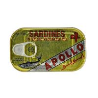 SARDINES IN SPICED VEGETABLE OIL 125G APOLLO