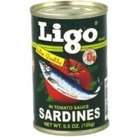 SARDINES IN TOMATO SAUCE 155G LIGO