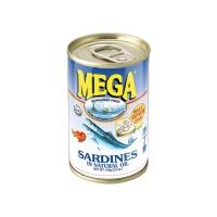 SARDINES IN NATURAL OIL 155G MEGA