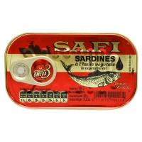 SARDINES IN VEGETABLE OIL 125G SAFI
