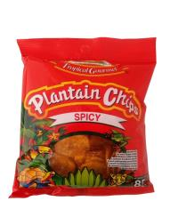 Spicy Plantain chips 85 gr Tropical Gourment